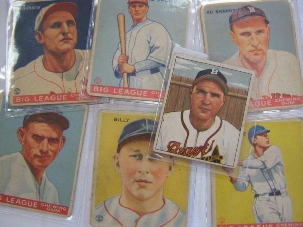 1933 BIG LEAGUE & 1950 BOWMAN GUM BASEBALL CARDS