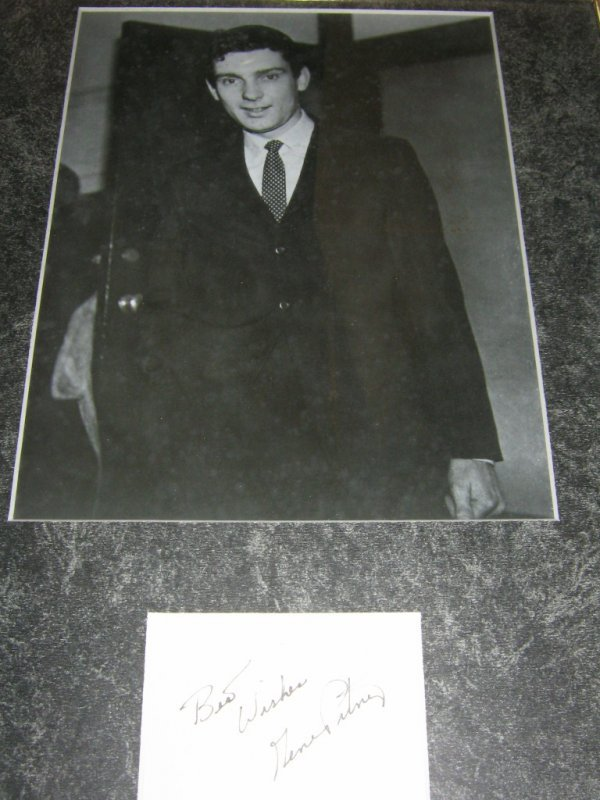 GENE AUTREY AUTOGRAPH CARD WITH PHOTO FRAMED