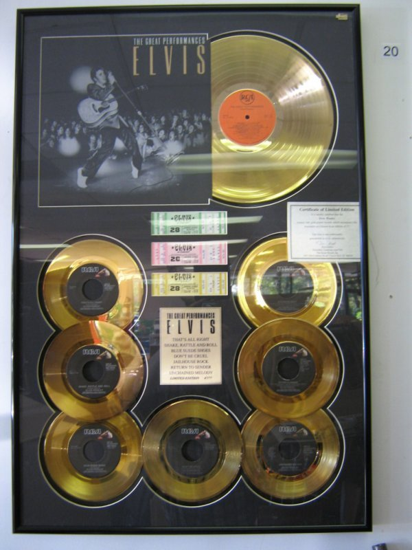 ELVIS PRESLEY GOLD RECORD LIMITED EDITION #47 OF 77