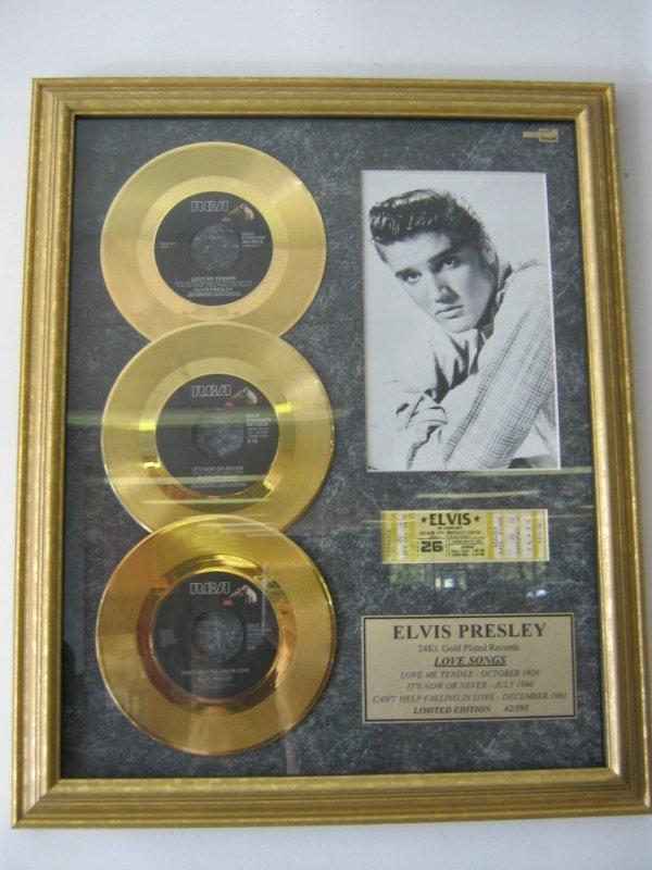 ELVIS PRESLEY GOLD RECORD LOVE SONG LTD. EDITION