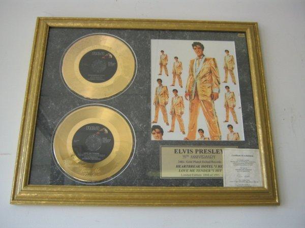 ELVIS PRESLEY 35TH ANNIVERSARY 24K PLATED RECORDS