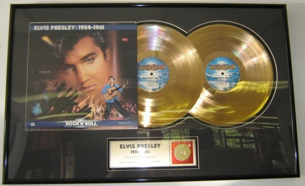 24 K GOLD ELVIS RECORDS 1954 /1961 LIMITED EDITION