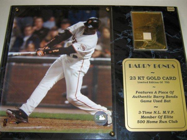 BARRY BONDS 23K GOLD CARD