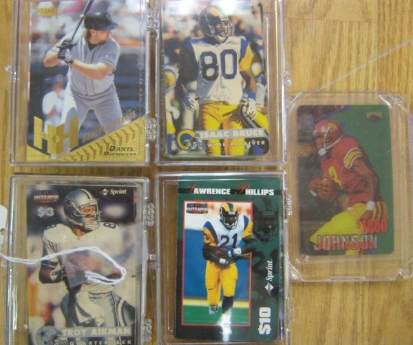 NFL SPRINT COLLECTOR CALLING CARD SET