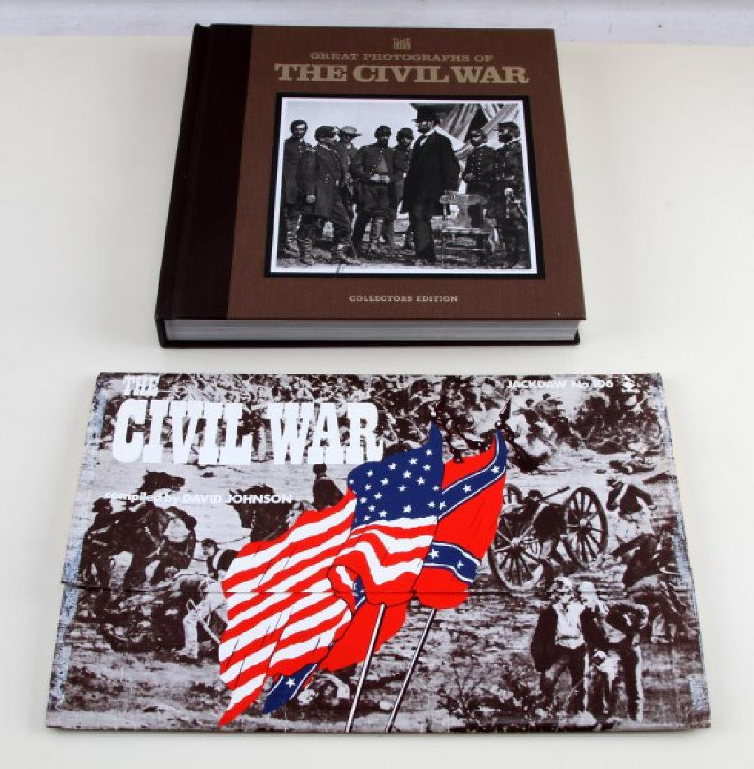 CIVIL WAR PHOTOGRAPH BOOK & COMMEMORATIVE DOCS LOT