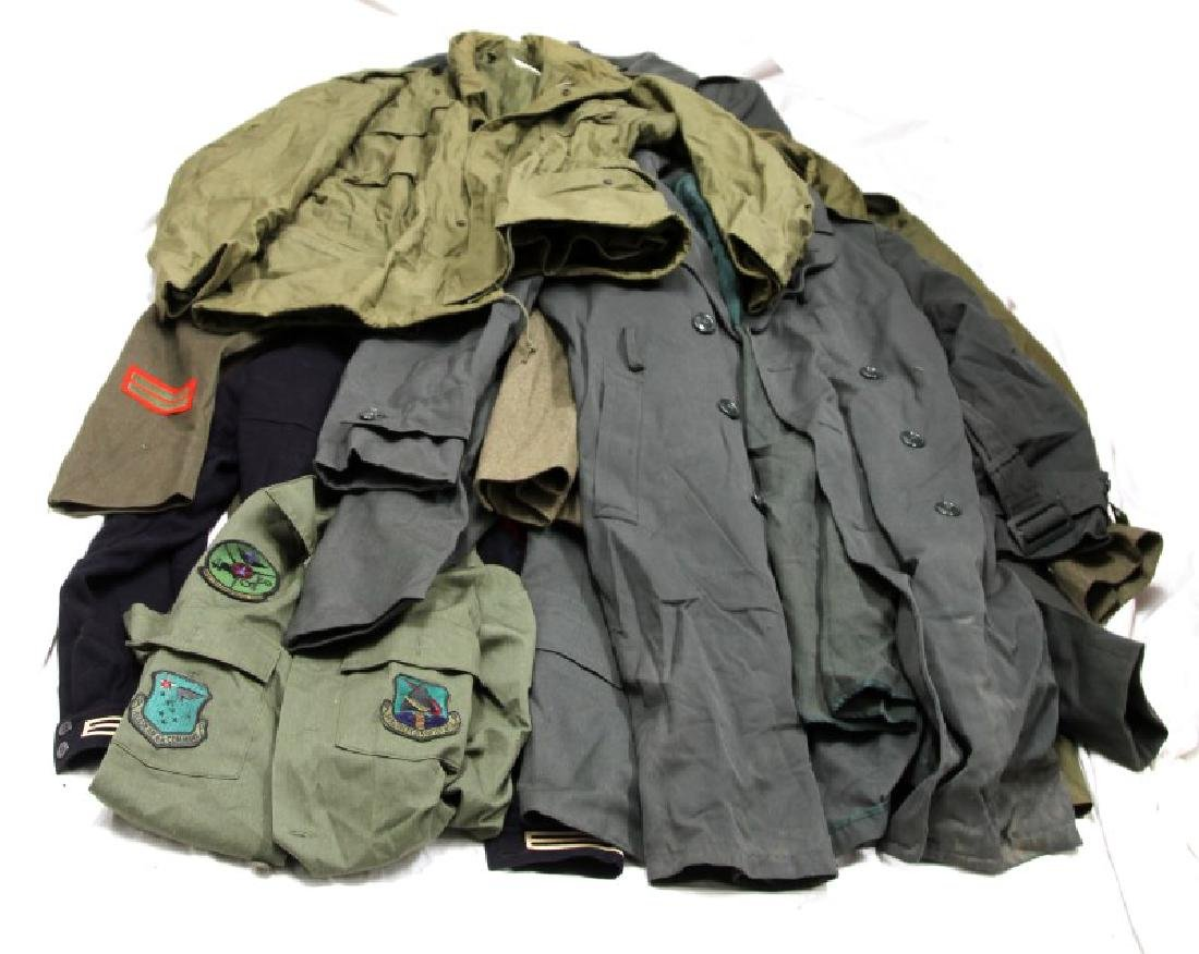 LARGE GROUPING OF ASSORTED MILITARY UNIFORM COATS