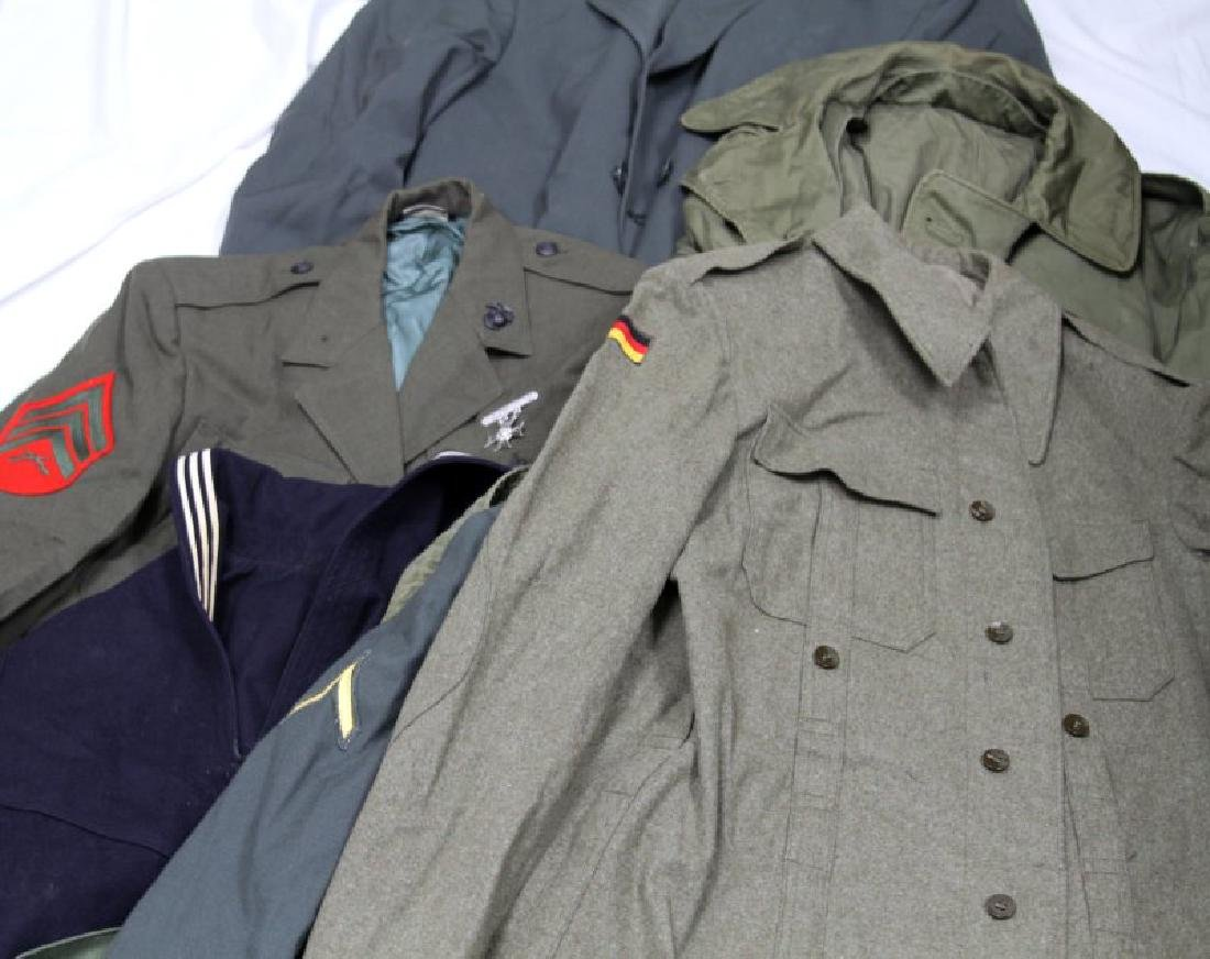 LARGE GROUPING OF ASSORTED MILITARY UNIFORM COATS - 3