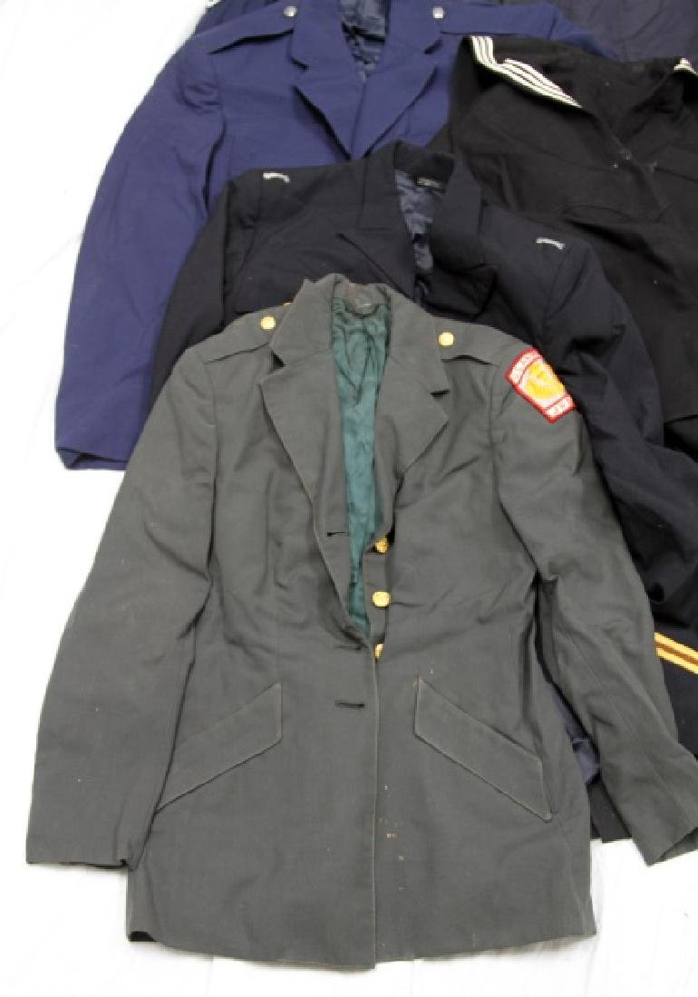 LARGE LOT OF ASSORTED MILITARY UNIFORM & COATS - 4