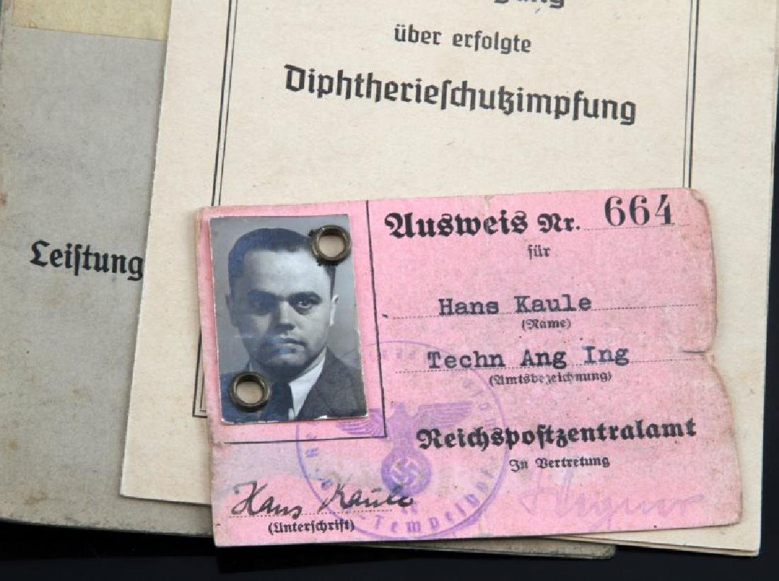 LOT OF 15 MIXED GERMAN WWII DOCUMENTS CURRENCY - 2