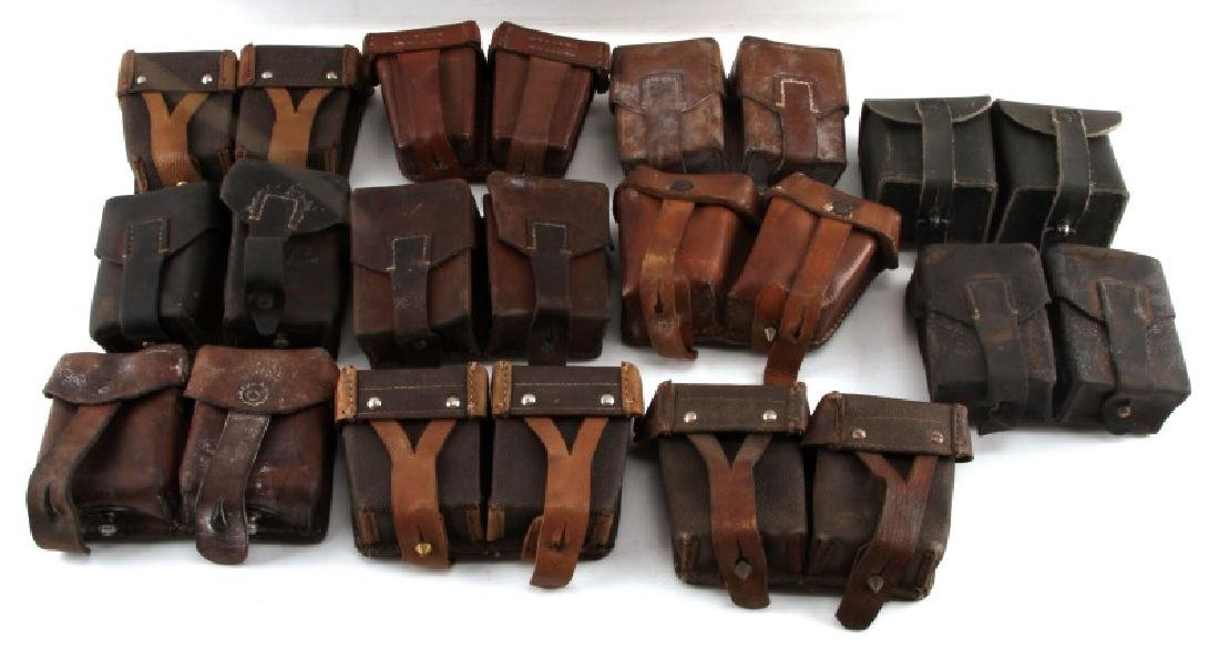 11 WWII MIXED GERMAN SOVIET & OTHER AMMO POUCHES