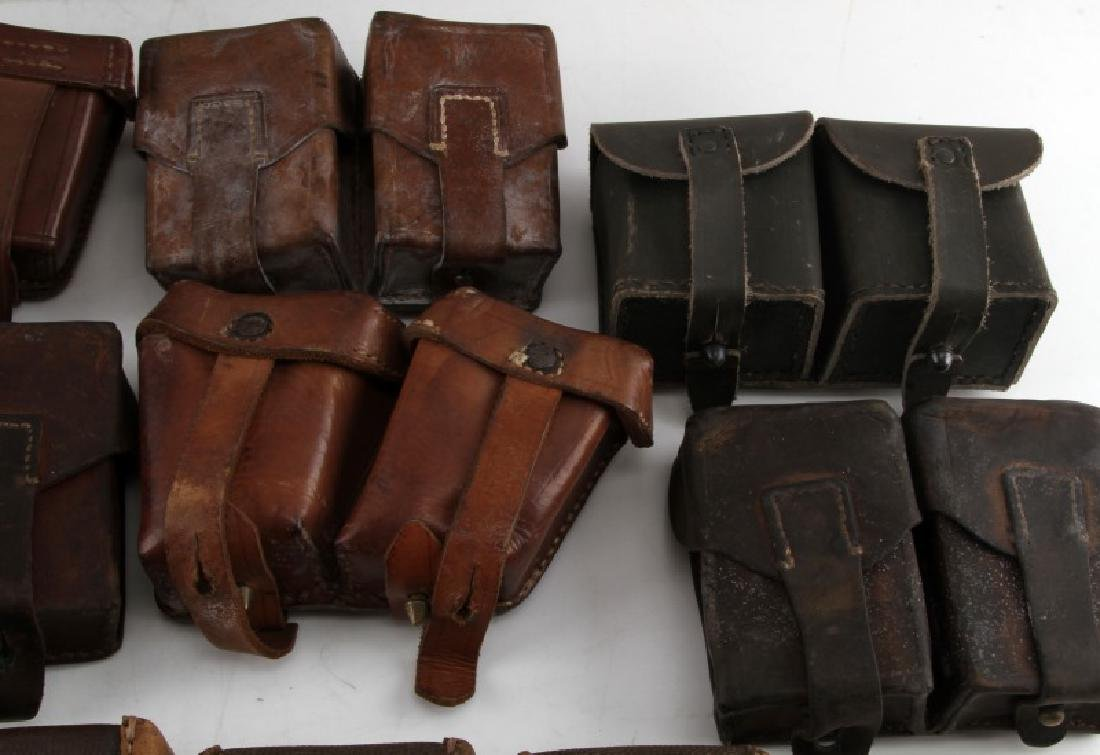 11 WWII MIXED GERMAN SOVIET & OTHER AMMO POUCHES - 3