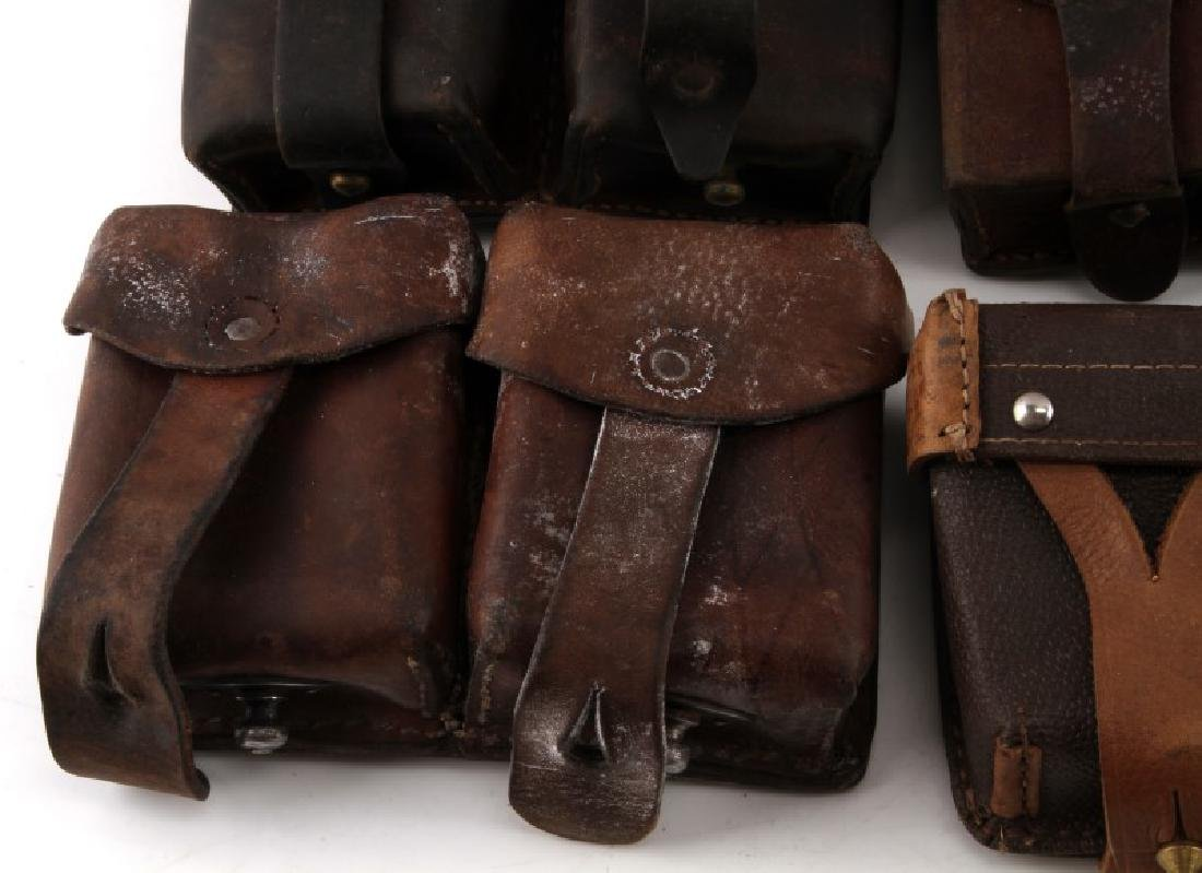 11 WWII MIXED GERMAN SOVIET & OTHER AMMO POUCHES - 5