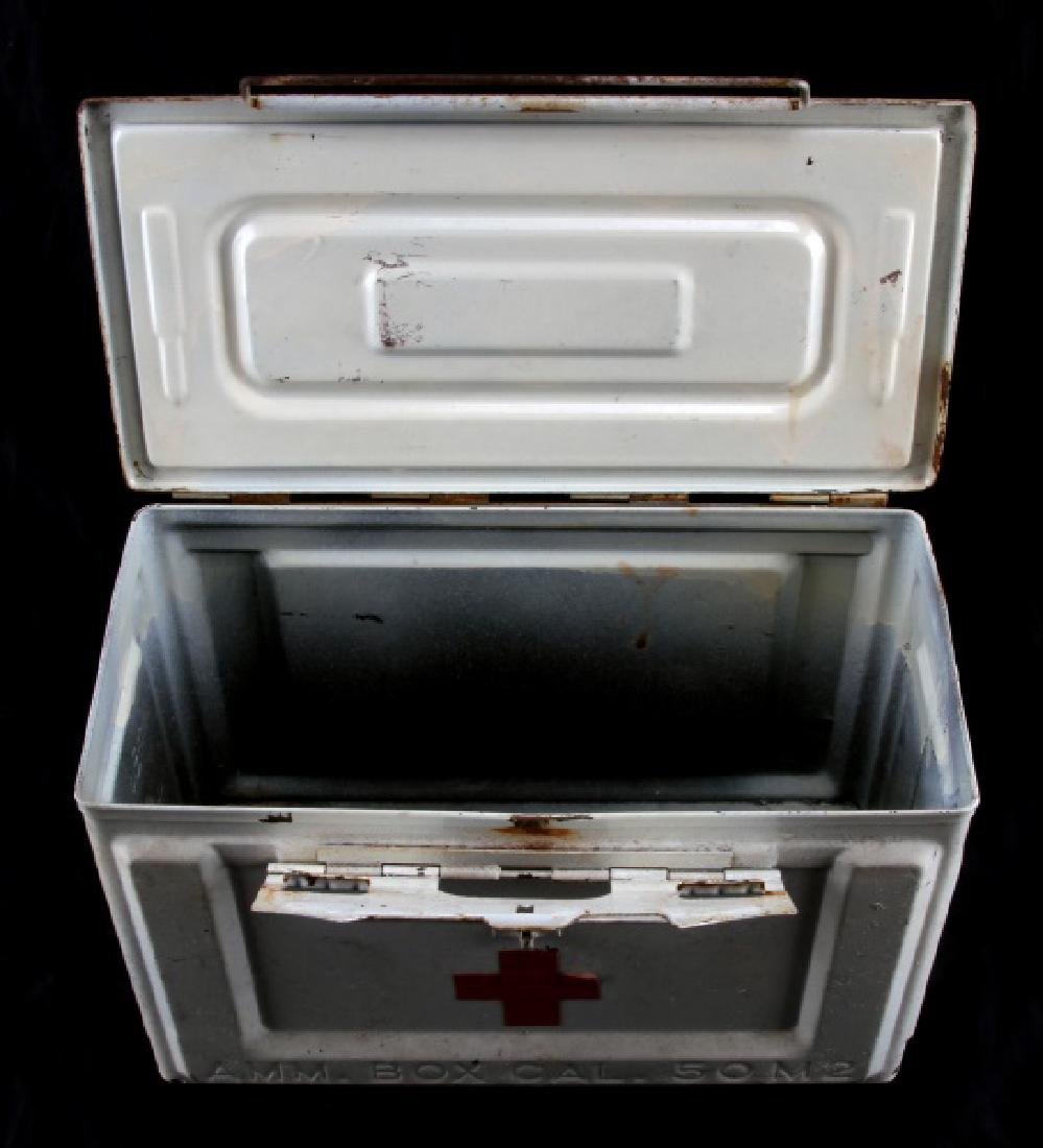 WHITE US WWII MEDIC FIELD KIT AMMO BOX - 5
