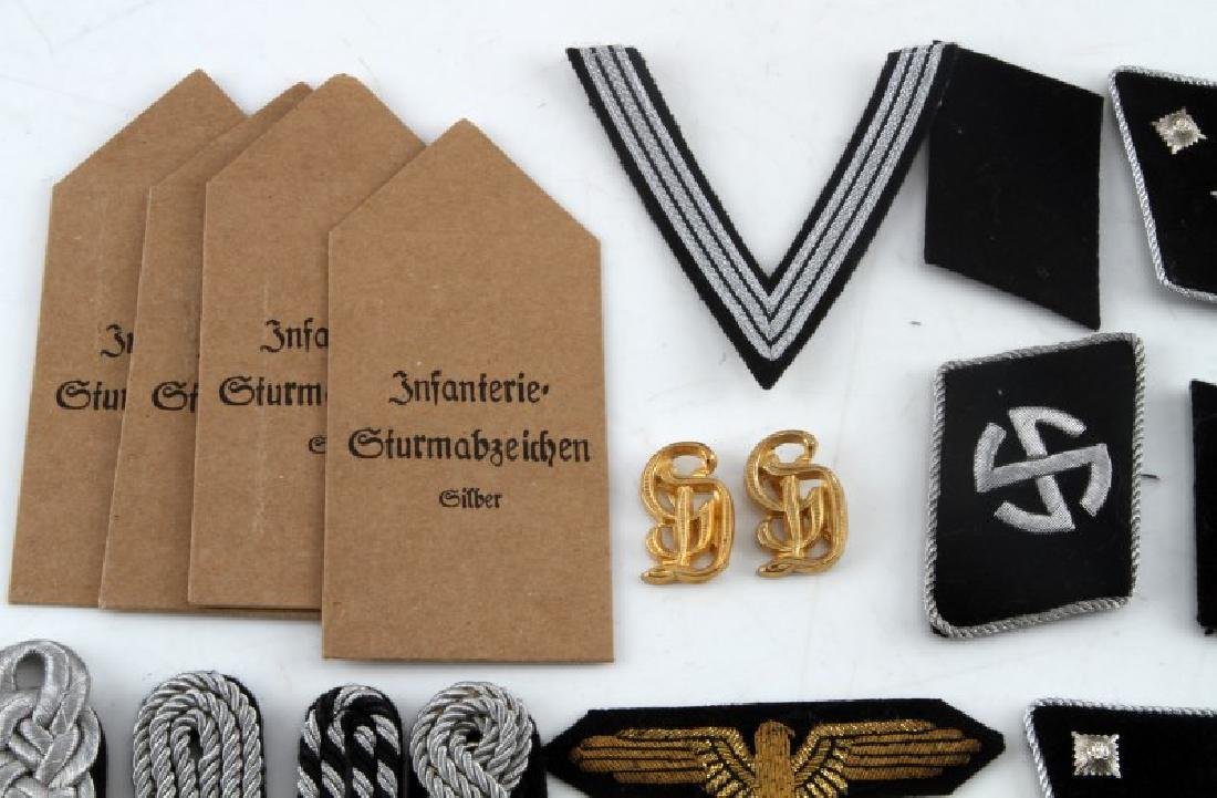 WWII GERMAN THIRD REICH PATCH AND BADGE REPRO LOT - 2