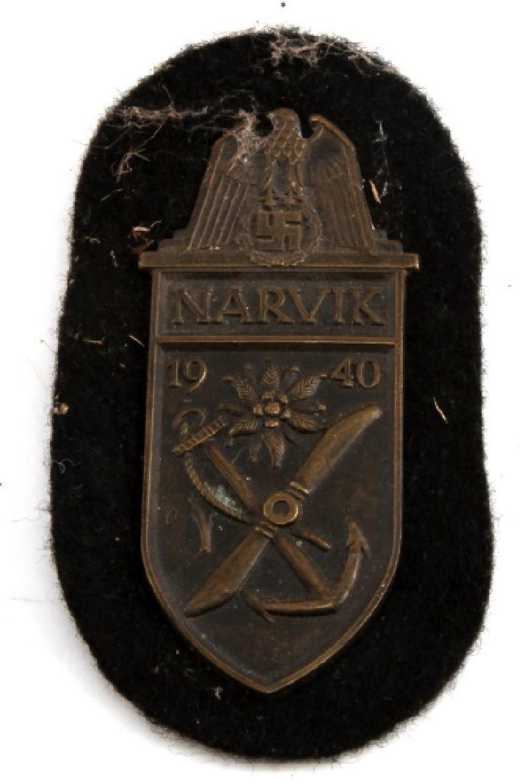 WWII GERMAN THIRD REICH NSDAP 1940 NARVIK BADGE