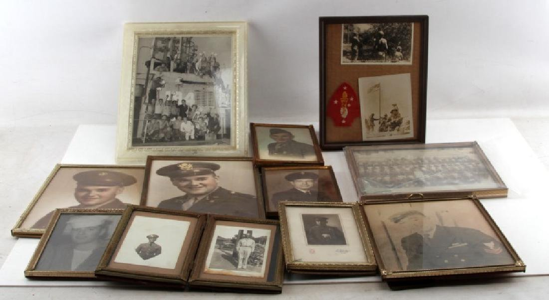 LOT OF US MILITARY SOLDIER PHOTOS NAVAL OLD GLORY