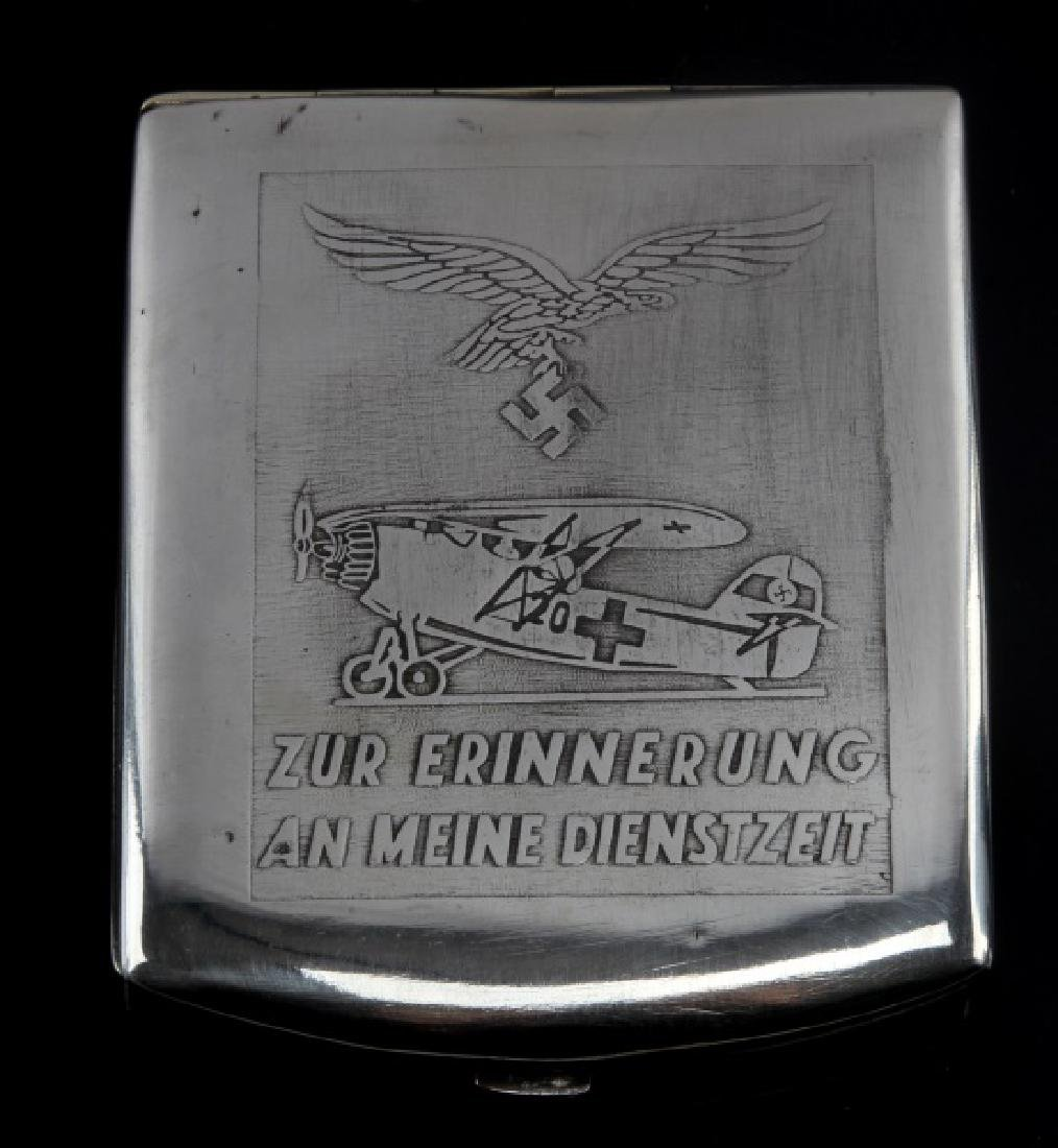 GERMAN WWII LUFTWAFFE PILOT AFRICA CIGARETTE CASE