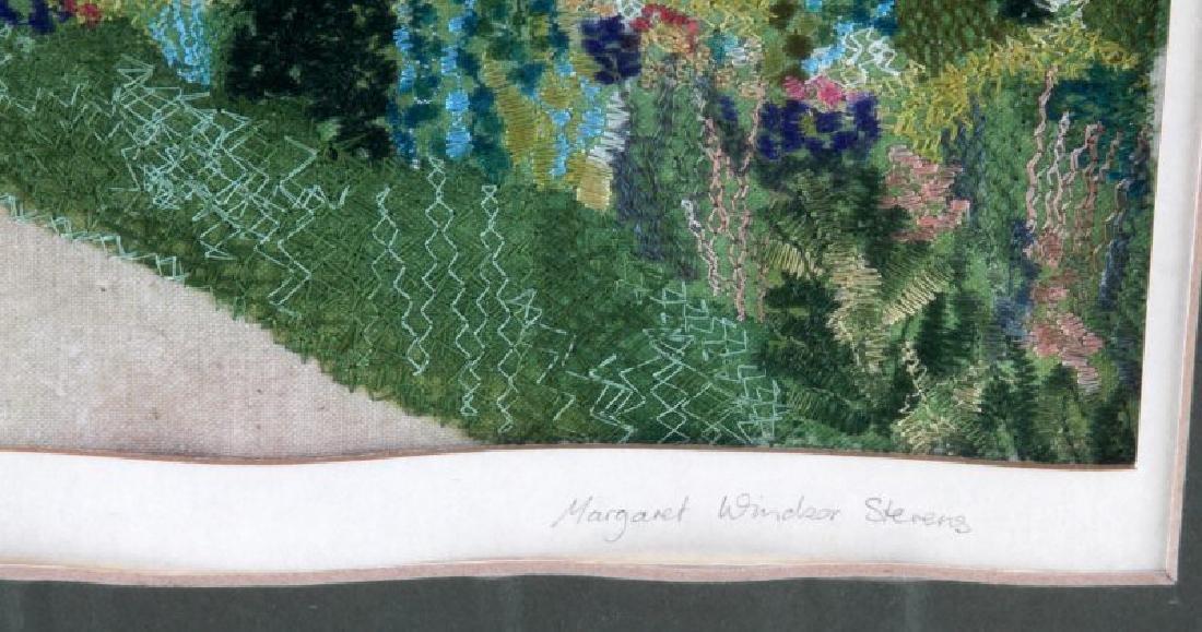 VINTAGE CROSS STITCH & INK EMBROIDERY LANDSCAPE - 3