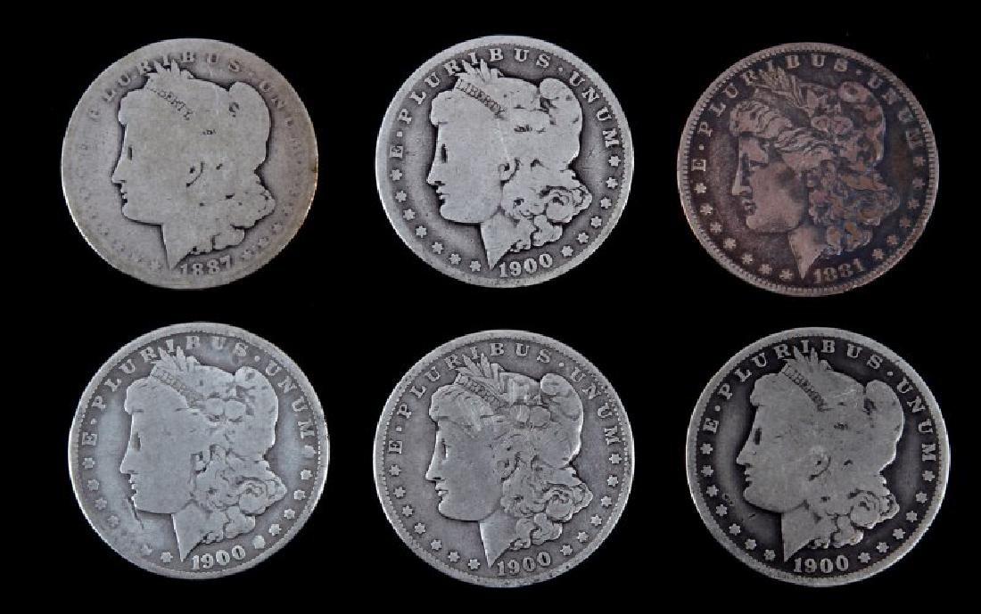 MORGAN SILVER DOLLAR LOT OF 6 CIRCULATED