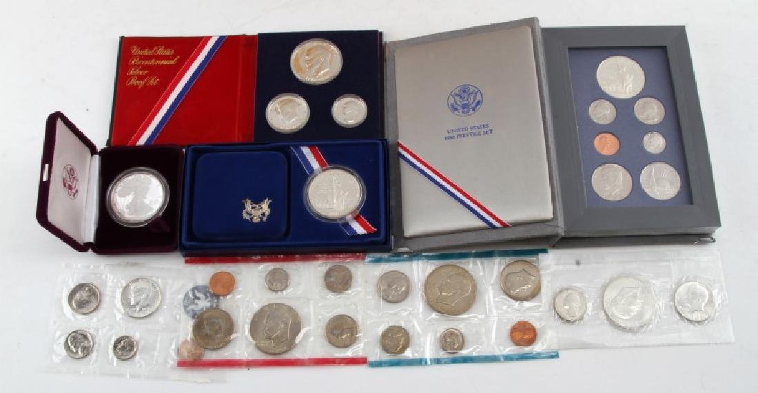 US MINT & COMMEM SETS LOT OF 7 WITH SILVER EAGLE