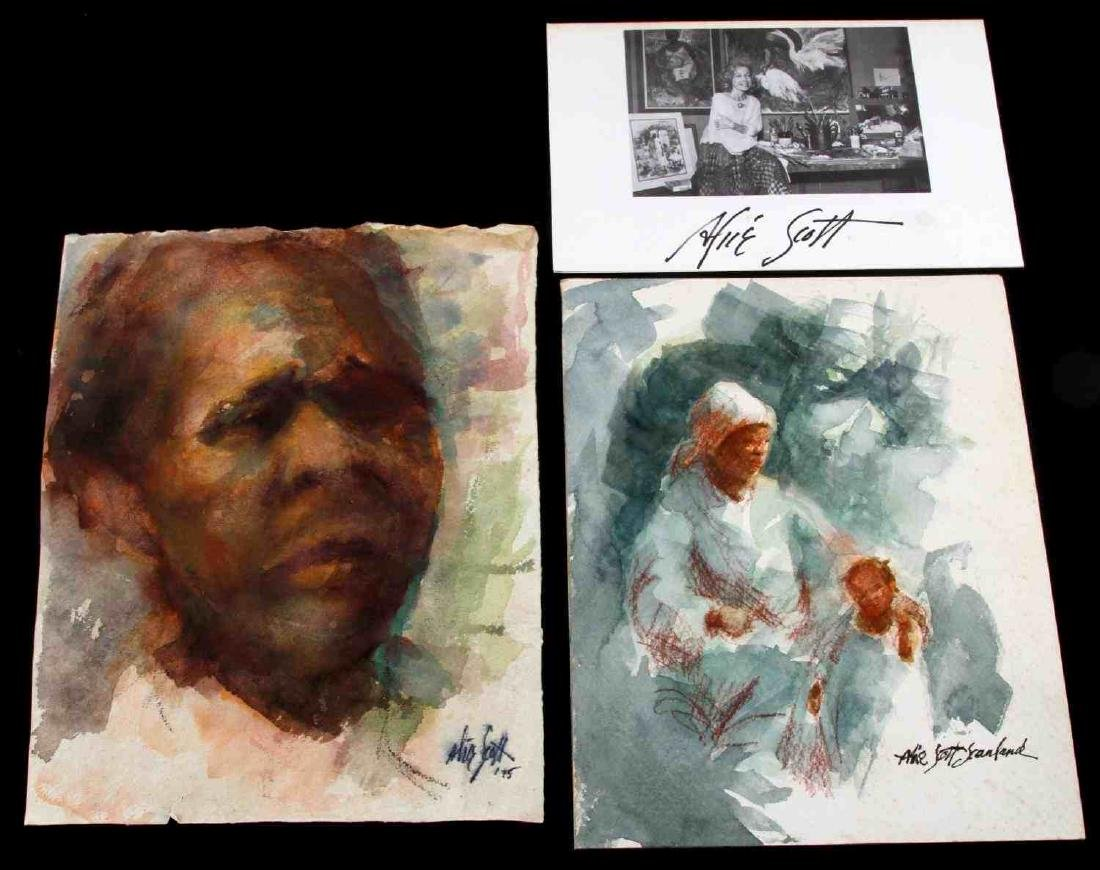 ALICE SCOTT SCANLAND WATERCOLOR PAINTING LOT