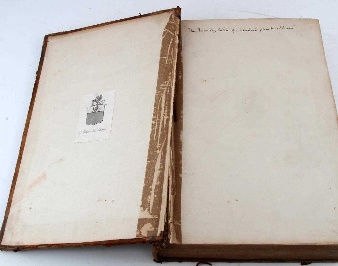 ANTIQUE ADMIRAL MARKHAM LEATHER BOUND FAMILY BIBLE