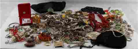 VINTAGE TO MODERN COSTUME JEWELRY AND PURSE LOT