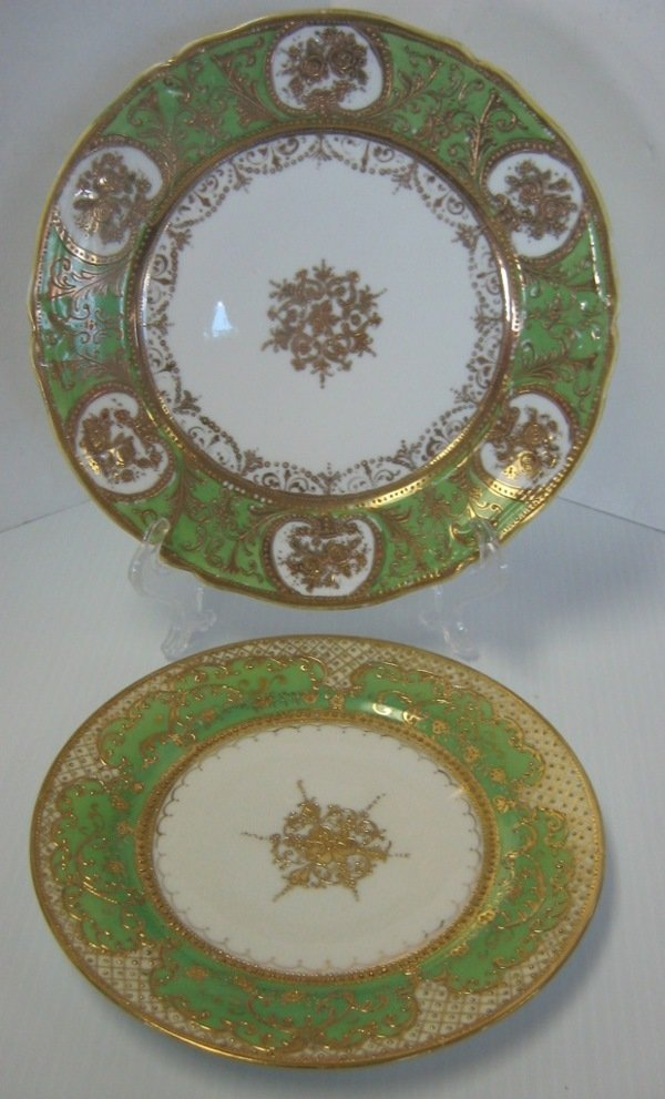 NIPPON JAPANESE MORIAGE GILDED DINNER PLATE LOT 2