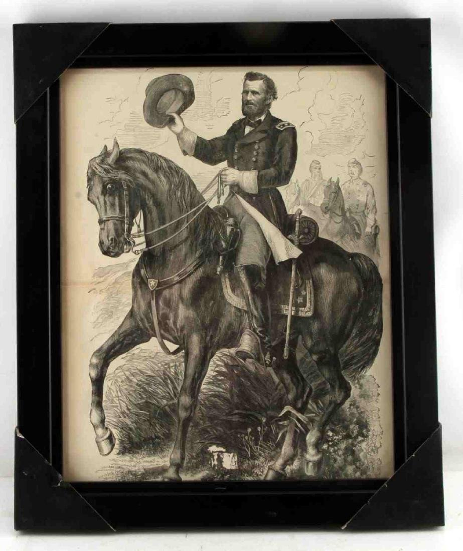 PRINT OF GENERAL ULYSSES S GRANT ETCHING