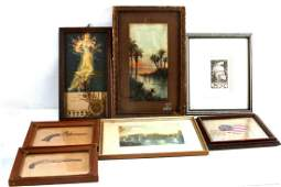 ASSORTED ART PRINT ETCHING  WATERCOLOR PICTURES
