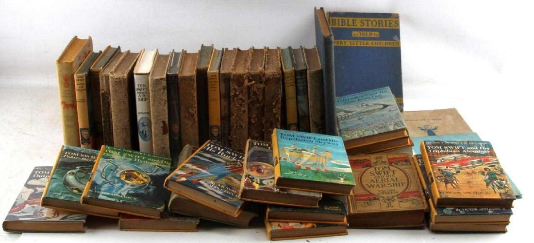 ANTIQUE AND VINTAGE CHILD BOOK LOT TOM SWIFT