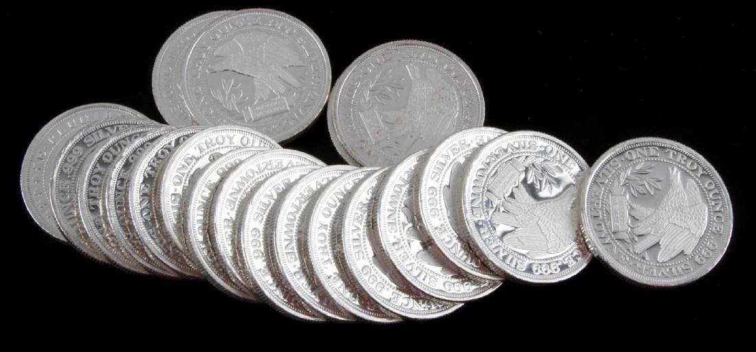 20 2006 SILVERTOWNE MINT.999 FINE SILVER COIN LOT