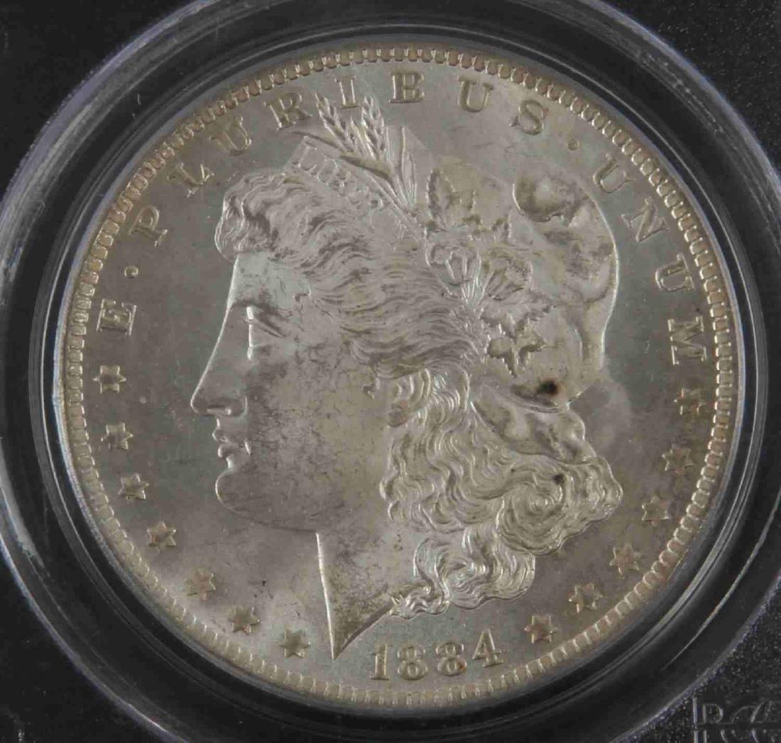 1884 0 MORGAN SILVER DOLLAR COIN PCGS MS COIN