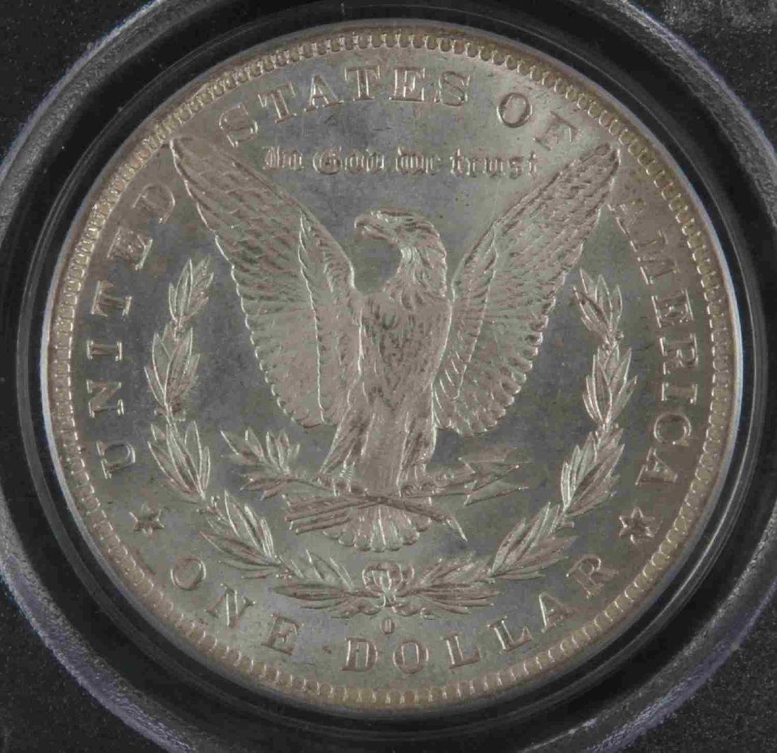 1884 0 MORGAN SILVER DOLLAR COIN PCGS MS COIN - 3