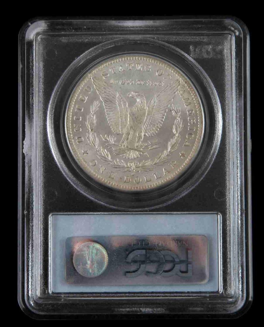 1884 0 MORGAN SILVER DOLLAR COIN PCGS MS COIN - 4