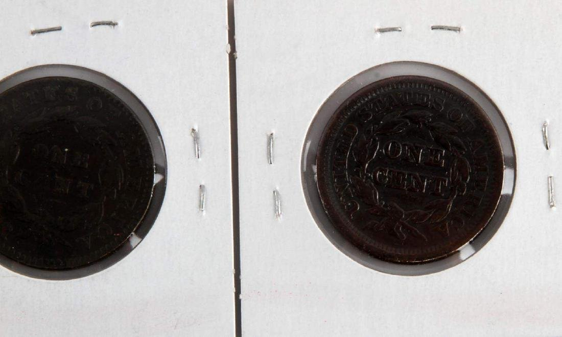 1816 TO 1853 US LARGE CENT COIN LOT OF 5 - 10
