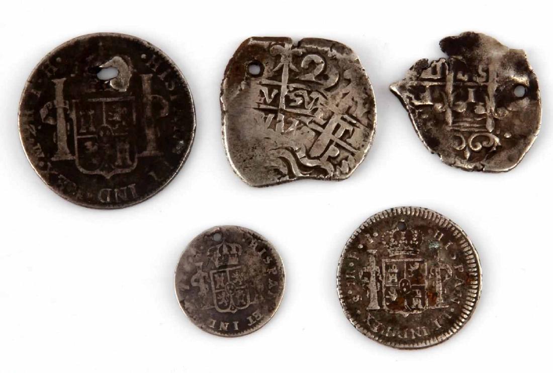 19TH CENTURY HOLED COIN LOT REALES COB MARAVEDIS - 2