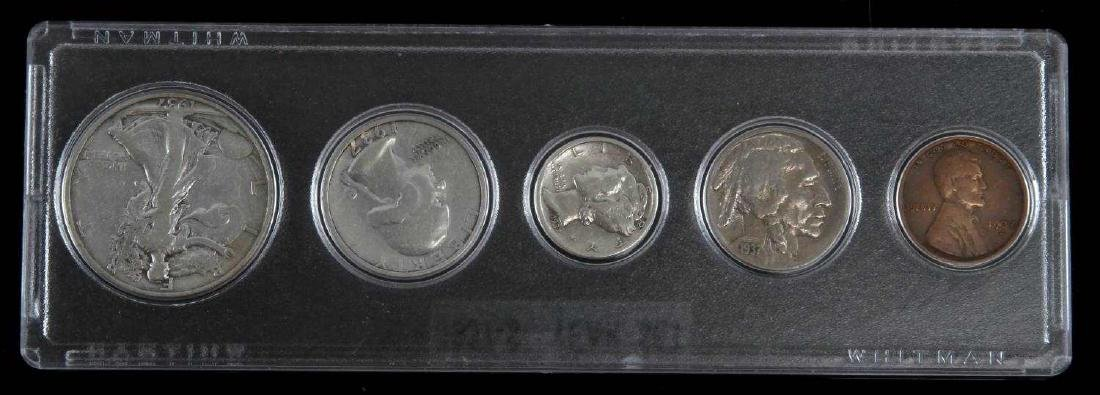 1937 S U.S. COIN SET BETTER YEAR 5 COINS