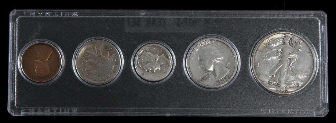 1937 S U.S. COIN SET BETTER YEAR 5 COINS - 2