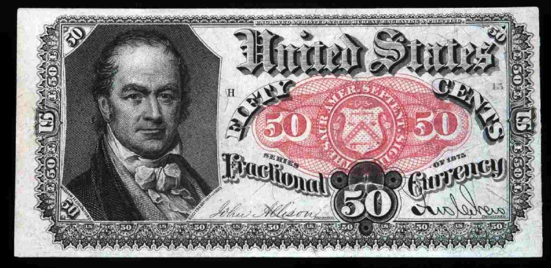 US UNCIRCULATED FRACTIONAL 50 CENT FR1381 BANKNOTE