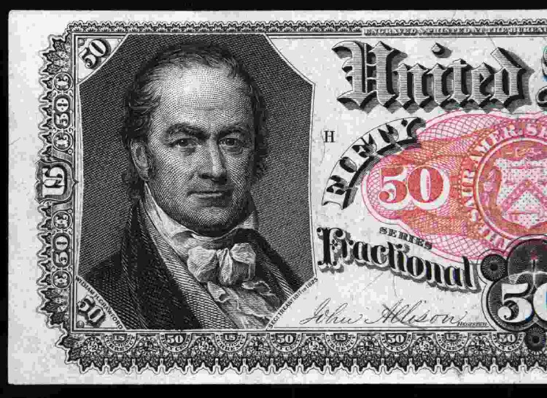 US UNCIRCULATED FRACTIONAL 50 CENT FR1381 BANKNOTE - 2