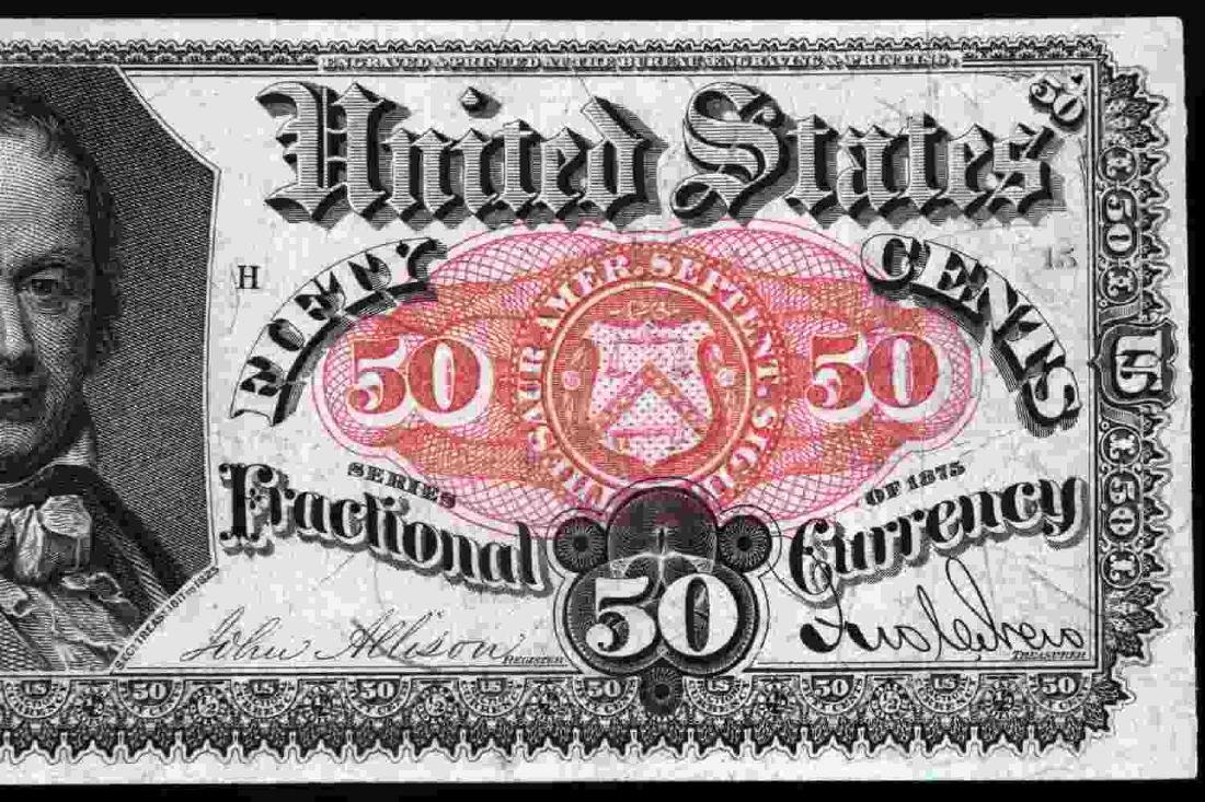 US UNCIRCULATED FRACTIONAL 50 CENT FR1381 BANKNOTE - 3