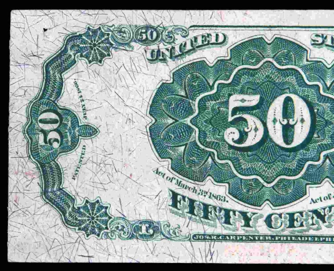 US UNCIRCULATED FRACTIONAL 50 CENT FR1381 BANKNOTE - 5