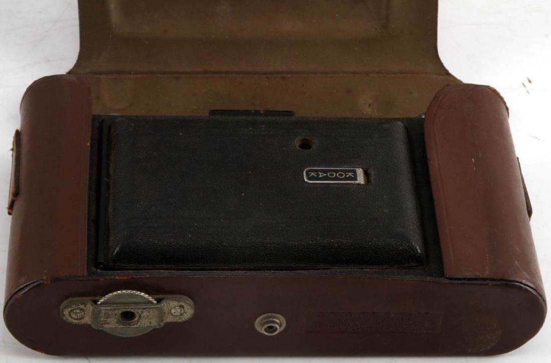 KODAK SIX-16 CAMERA IN BROWN LEATHER FIELD CASE - 3