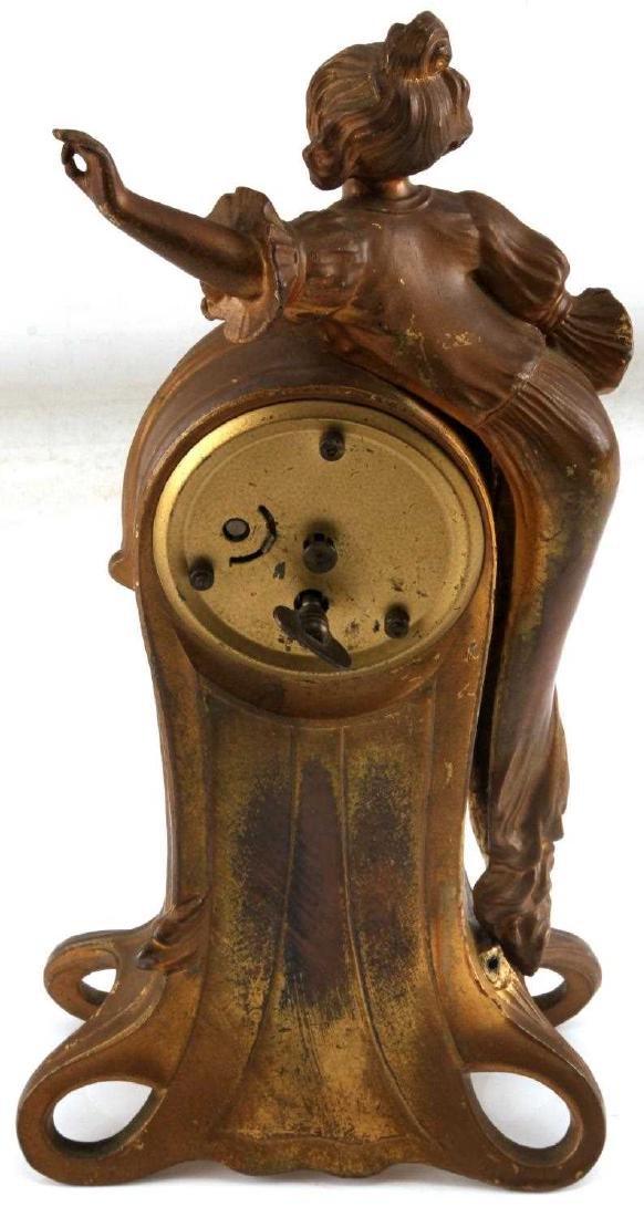 VINTAGE WEST GERMAN MERCEDES ART DECO BRASS CLOCK - 4