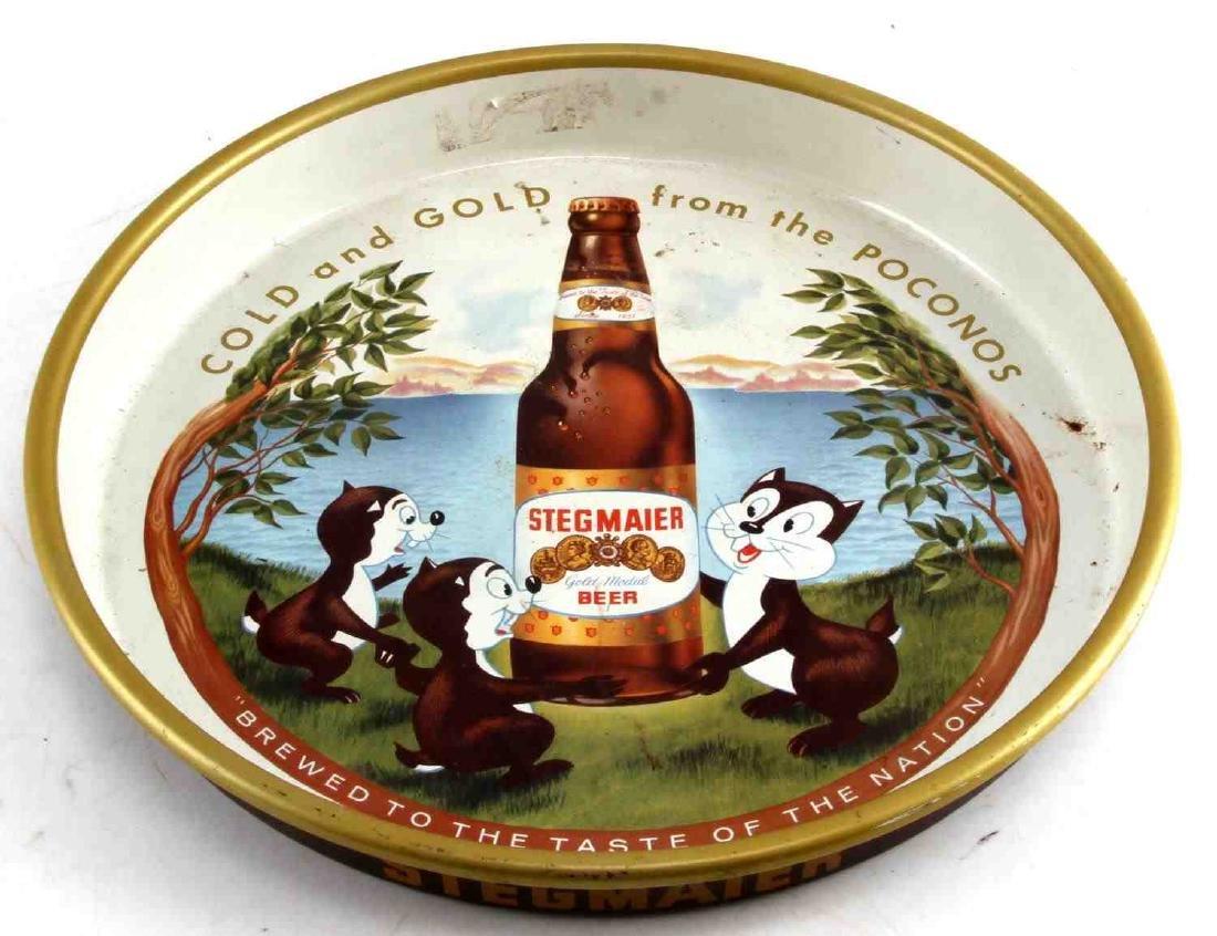 STEGMAIER GOLD MEDAL BEER SERVING TRAY 1959