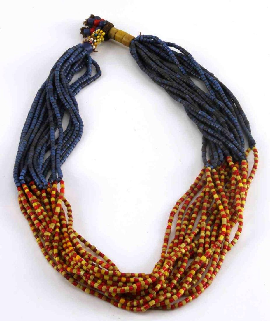19TH CENTURY MOJAVE MULTI STRAND COLOR TRADE BEADS