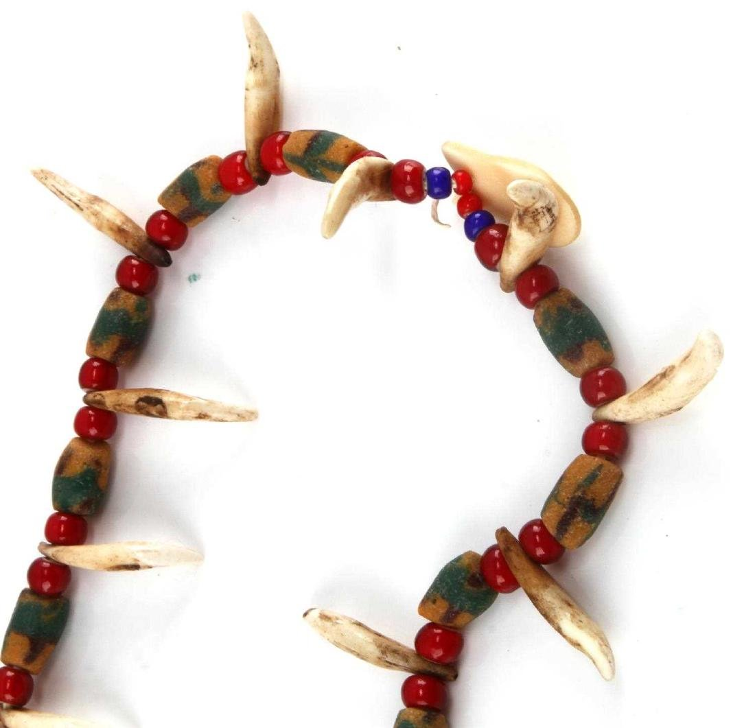 NORTHERN PLAINS SIOUX COYOTE TOOTH & BEAD NECKLACE - 5