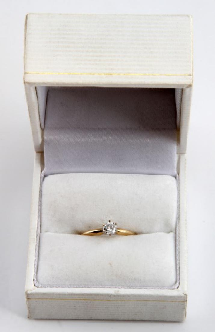 14KT GOLD 1/4CT DIAMOND SOLITAIRE ENGAGEMENT RING - 7
