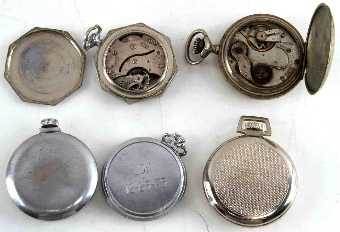 ANTIQUE AND VINTAGE MEN AND WOMEN POCKET WATCH LOT - 10